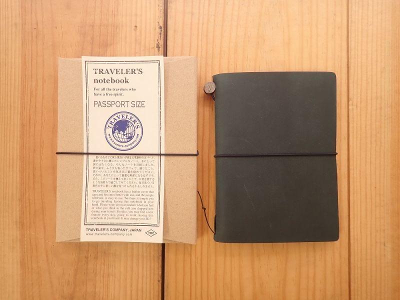 画像1: 【ネコポスOK】 Traveler's Notebook/トラベラーズノート パスポートサイズ ブルー