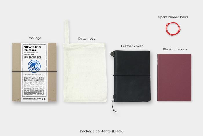 画像2: 【ネコポスOK】 Traveler's Notebook/トラベラーズノート パスポートサイズ 黒