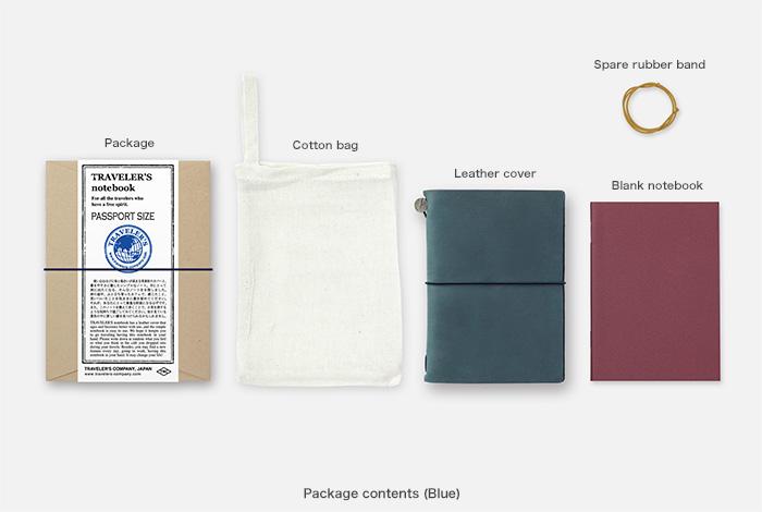画像2: 【ネコポスOK】 Traveler's Notebook/トラベラーズノート パスポートサイズ ブルー