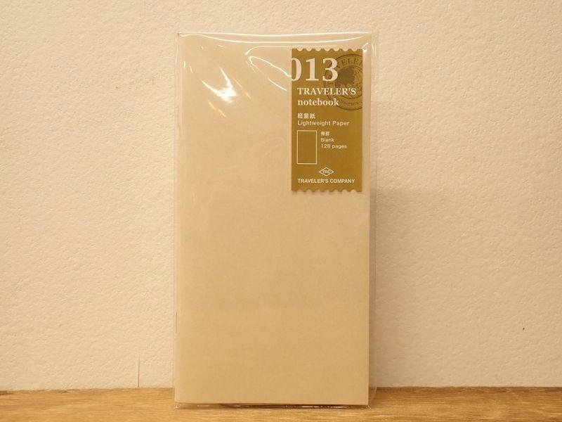 画像2: 【ネコポスOK】 トラベラーズノート リフィル レギュラー[013] 軽量紙