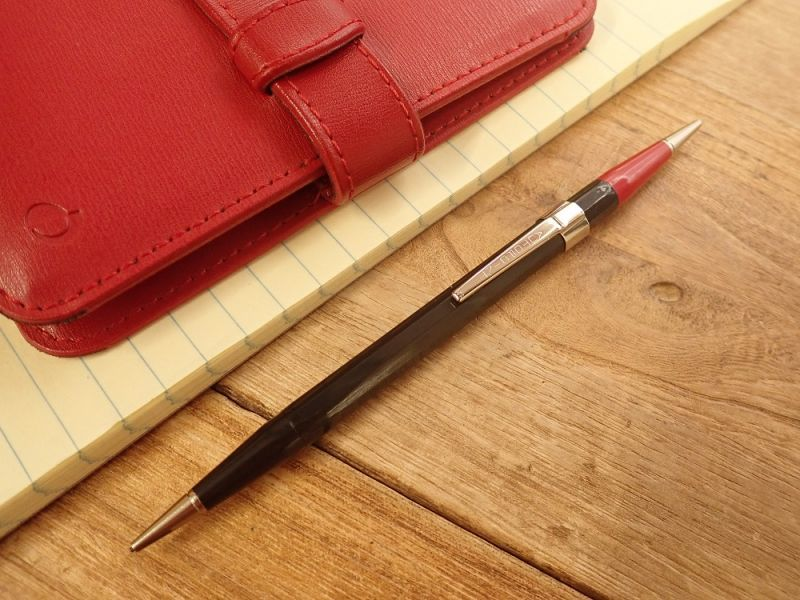 画像1: 【ネコポスOK】 アメリカ AUTOPOINT/オートポイント ツインポイント 黒×赤 シャープペンシル0.9