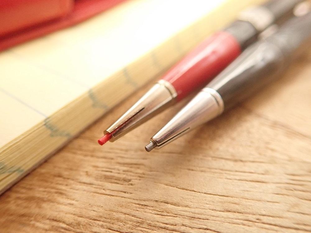 画像2: 【ネコポスOK】 アメリカ AUTOPOINT/オートポイント ツインポイント 黒×赤 シャープペンシル0.9