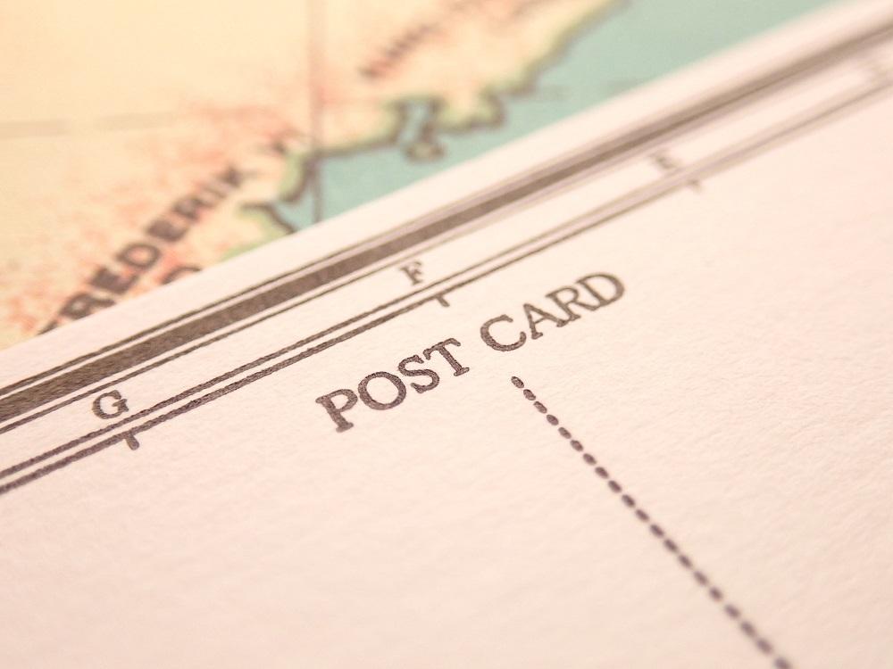 画像3: 【ネコポスOK】 旅屋オリジナル 白地図ポストカード World map
