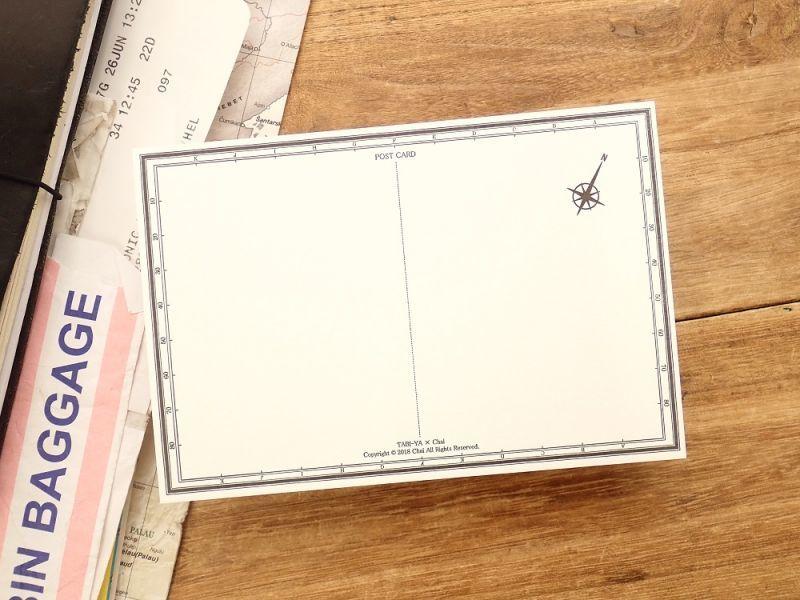 画像2: 【ネコポスOK】 旅屋オリジナル 白地図ポストカード FUKUOKA/福岡