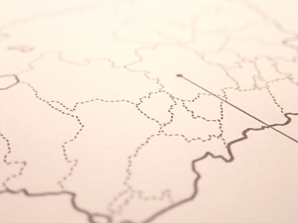 画像5: 【ネコポスOK】 旅屋オリジナル 白地図ポストカード KYOTO/京都