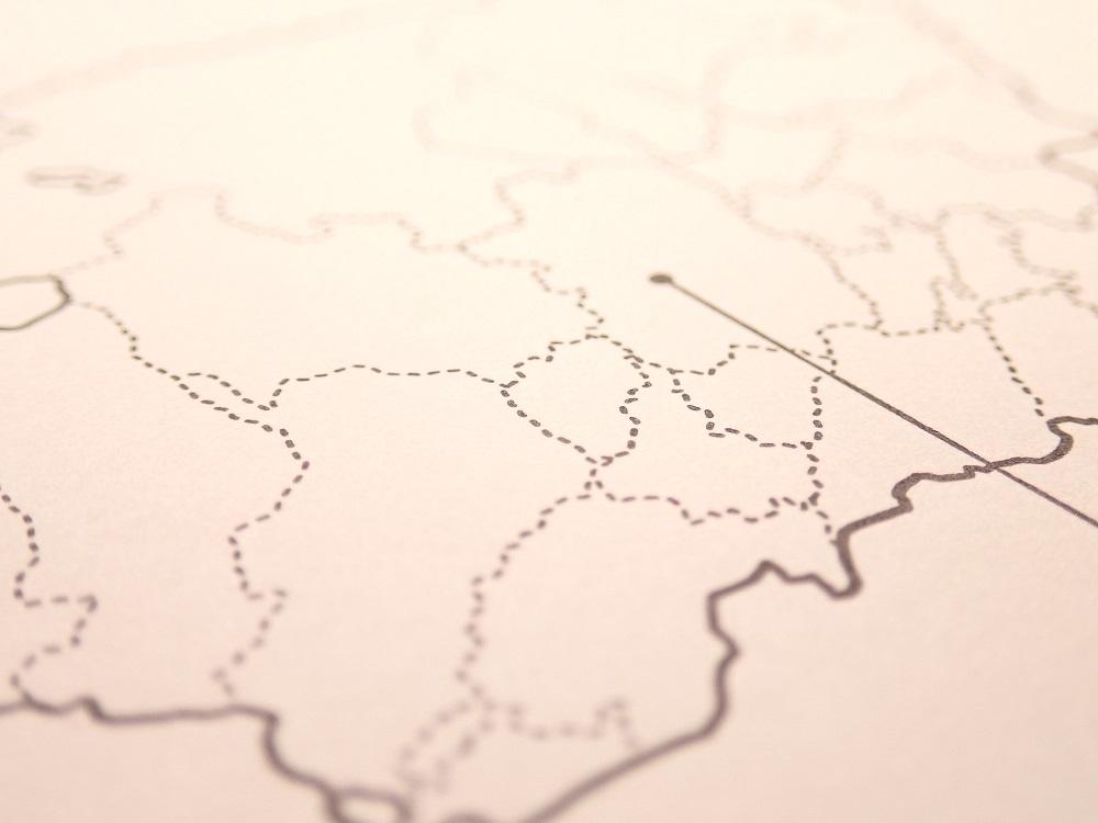 画像3: 【ネコポスOK】 旅屋オリジナル 白地図ポストカード FUKUOKA/福岡