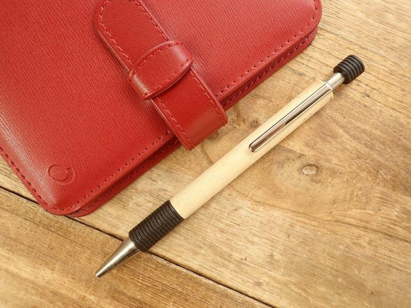 画像1: 【ネコポスOK】【デットストック】 ドイツ Ehmann/イーマン 木軸ボールペン ブラック