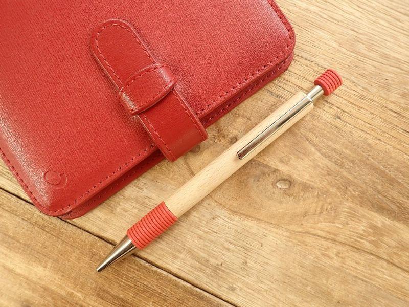 画像1: 【デットストック】【ネコポスOK】 ドイツ Ehmann/イーマン 木軸ボールペン レッド