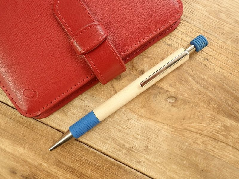 画像1: 【ネコポスOK】【デットストック】 ドイツ Ehmann/イーマン 木軸ボールペン ブルー