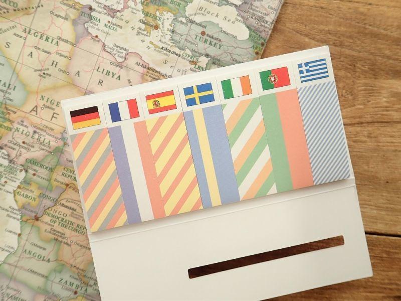 画像2: 【ネコポスOK】 国旗ふせん ヨーロッパ1
