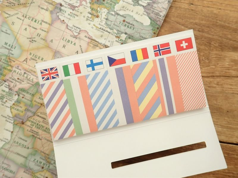 画像2: 【ネコポスOK】 国旗ふせん ヨーロッパ2