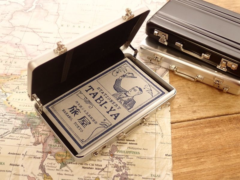 画像3: 【ネコポスOK】 アルミアタッシュカードケース ブラック