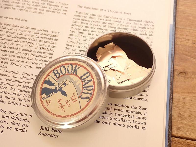 画像1: 【ネコポス△】 アメリカ・ブックダーツ 缶入り ブロンズ
