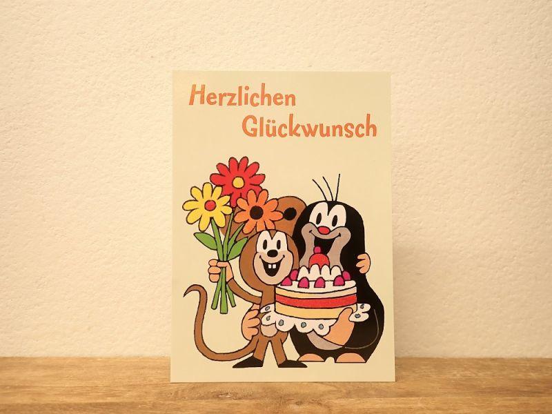 画像1: 【ネコポスOK】 ドイツ ポストカード クルテク Herzlichen Glückwunsch/おめでとう