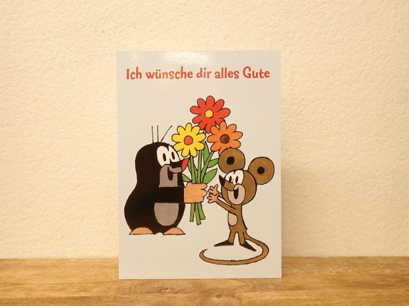 画像1: 【ネコポスOK】 ドイツ ポストカード クルテク Ich wünsche dir alles Gute/元気でね