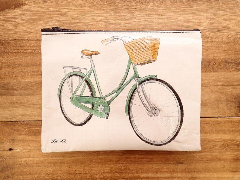 画像1: 【ネコポスOK】 アメリカ Blue Q/ブルーキュー ジッパーケース Bicycle