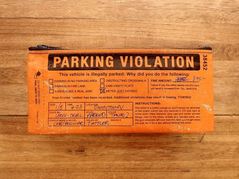 画像1: 【ネコポスOK】 アメリカ Blue Q/ブルーキュー ペンケース Parking Violation