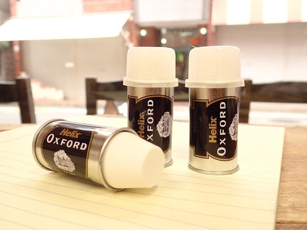 画像1: 【ネコポスNG】 イギリス Helix OXFORD メタルスリーブ 消しゴム