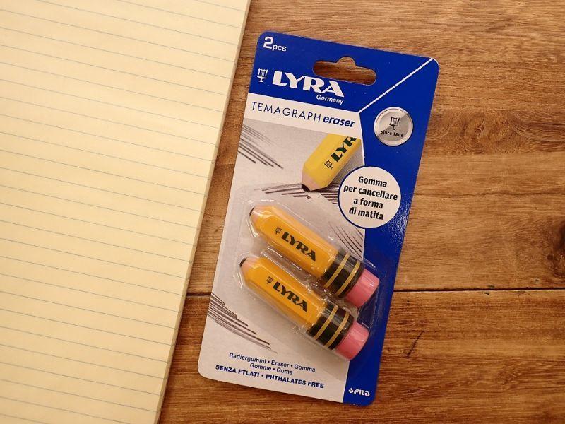画像1: 【ネコポスOK】 ドイツ LYRA/リラ TEMAGRAPH eraser 消しゴム(2個)