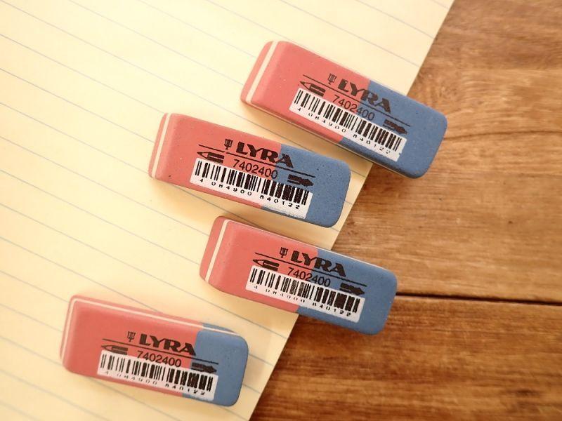 画像1: 【ネコポスOK】 ドイツ LYRA/リラ India Rubber Eraser 消しゴム(1個)