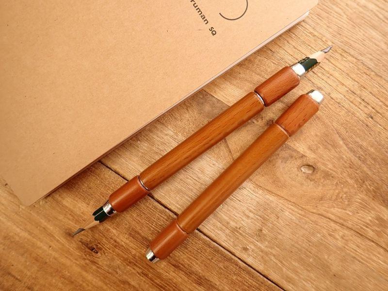 画像1: 【ネコポスOK】 木製補助軸 ツイン