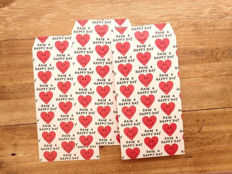 画像2: 【ネコポスOK】 ポチ袋L Heart Smile 3枚入り