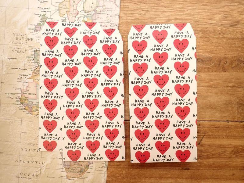 画像1: 【ネコポスOK】 ポチ袋L Heart Smile 3枚入り