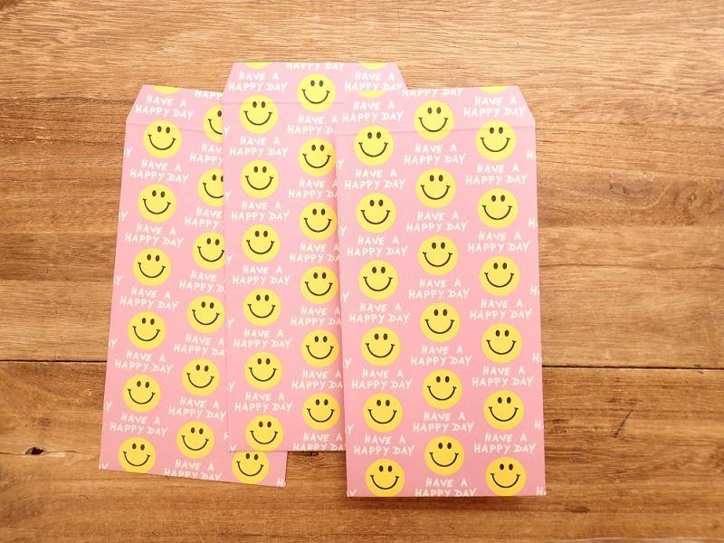 画像2: 【ネコポスOK】 ポチ袋L Smile Pink 3枚入り
