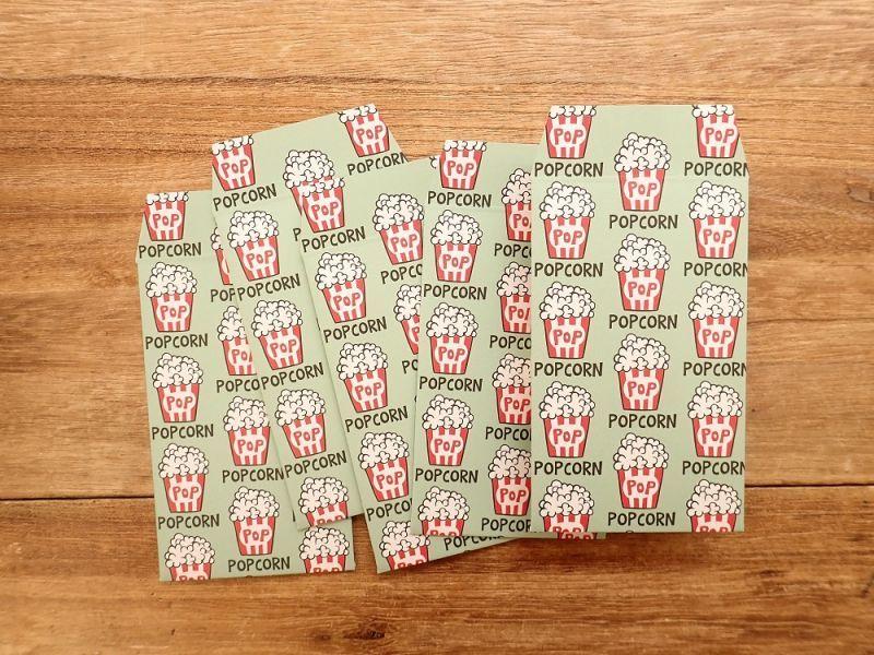 画像2: 【ネコポスOK】 ポチ袋 POPCORN 5枚入り