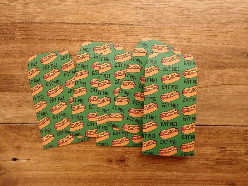 画像2: 【ネコポスOK】 ポチ袋 HOTDOG 5枚入り