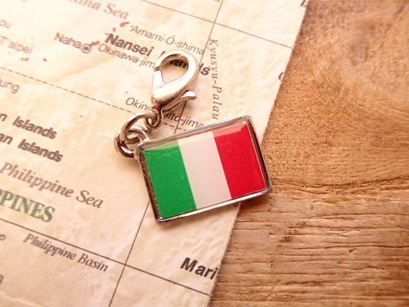 画像1: 【ネコポスOK】 世界の国旗 チャーム [イタリア] 1個