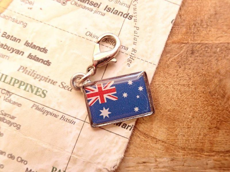 画像1: 【ネコポスOK】 世界の国旗 チャーム [オーストラリア] 1個
