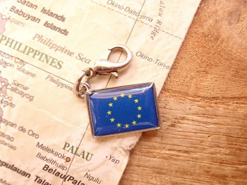 画像1: 【ネコポスOK】 世界の国旗 チャーム [欧州連合/EU] 1個