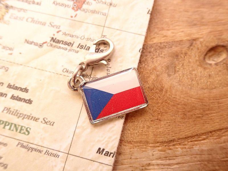 画像1: 【ネコポスOK】 世界の国旗 チャーム [チェコ] 1個