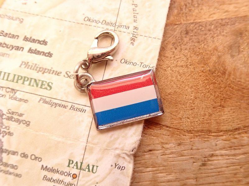 画像1: 【ネコポスOK】 世界の国旗 チャーム [オランダ] 1個