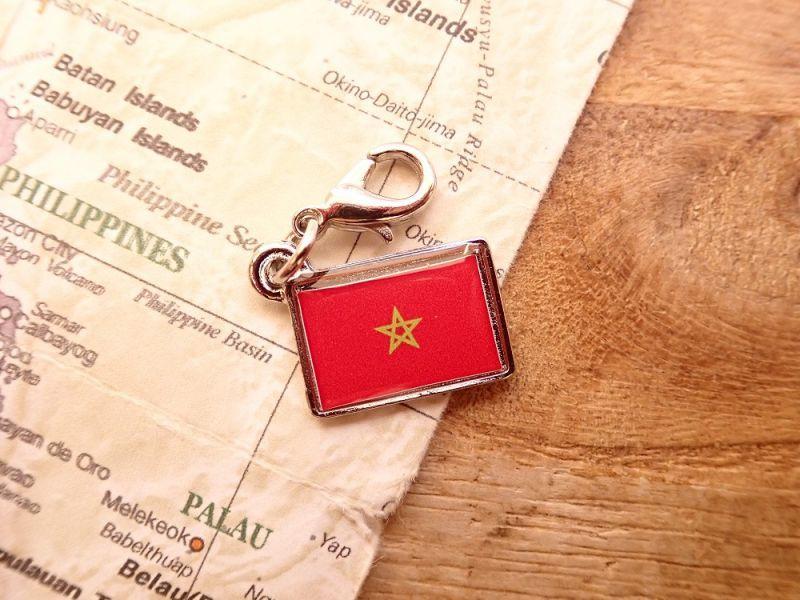 画像1: 【ネコポスOK】 世界の国旗 チャーム [モロッコ] 1個