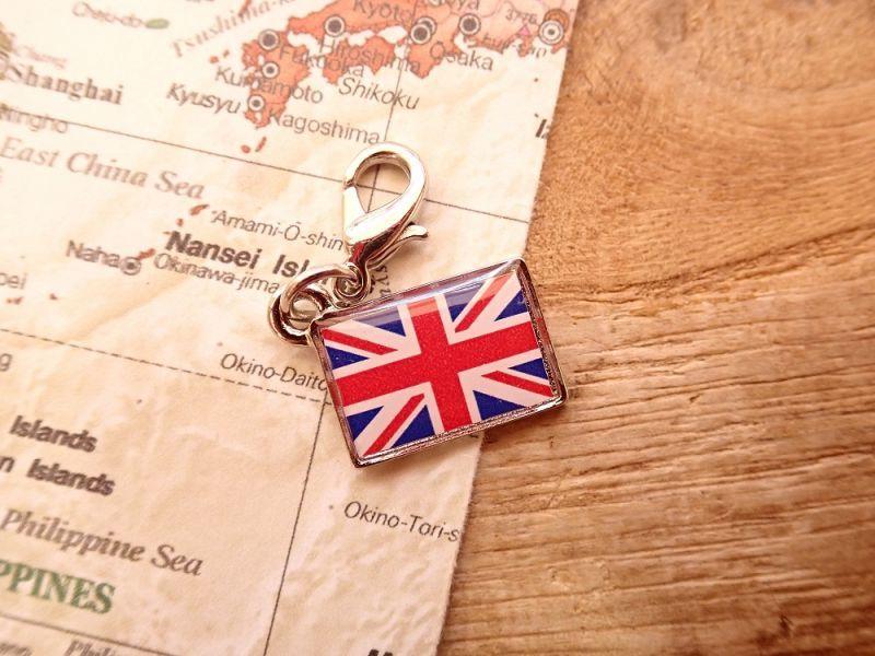 画像1: 【ネコポスOK】 世界の国旗 チャーム [イギリス] 1個