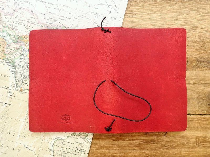 画像3: 【ネコポスNG】 ドイツ KALOS LOG BOOK A6 レッド
