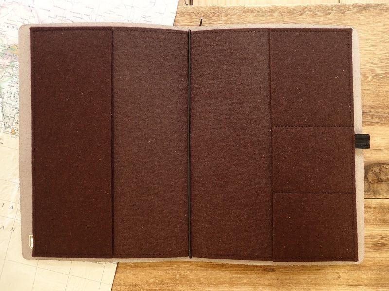 画像2: 【ネコポスNG】 ドイツ KALOS LOG BOOK A5 ブラウン