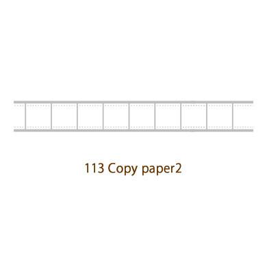 画像2: 【ネコポスOK】 decollections/デコレクションズ マスキングテープ Copy paper グレー