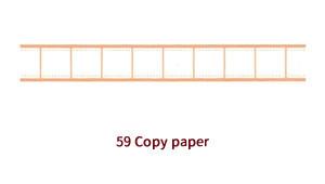 画像2: 【ネコポスOK】 decollections/デコレクションズ マスキングテープ Copy paper ブラウン