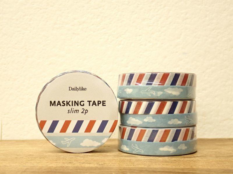 画像1: 【ネコポスOK】 decollections/デコレクションズ マスキングテープ Post slim2個セット