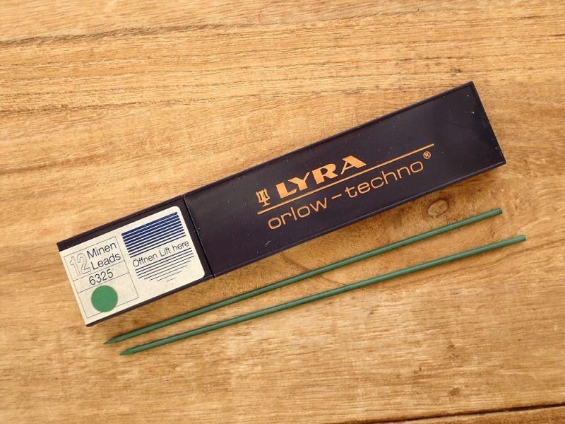 画像1: 【デッドストック】【ネコポスOK】 ドイツ LYRA/リラ 替芯2.0 緑