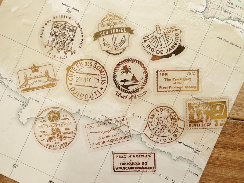 画像3: 【ネコポスOK】 デコラティブステッカー 旅行記録