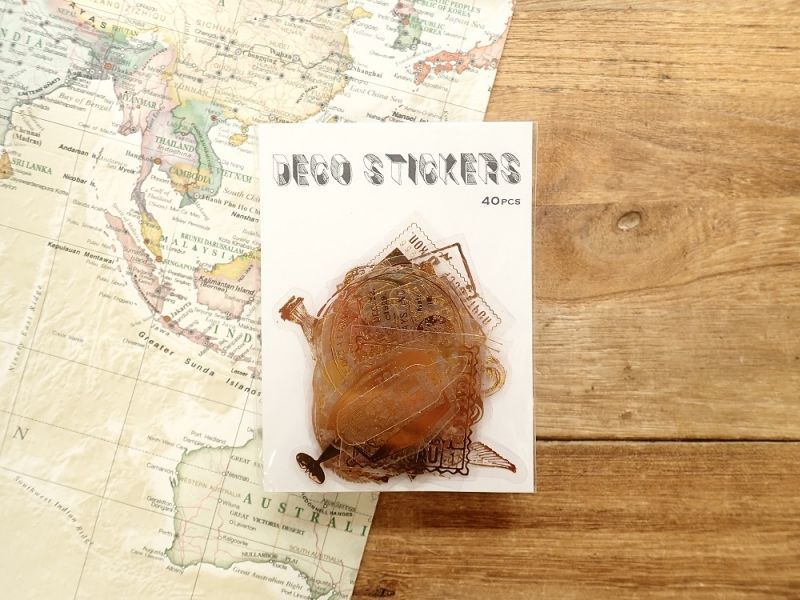 画像4: 【ネコポスOK】 デコラティブステッカー 旅行記録