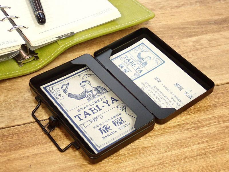 画像2: 【ネコポス△】 ブリーフケース型カードケース ブラック