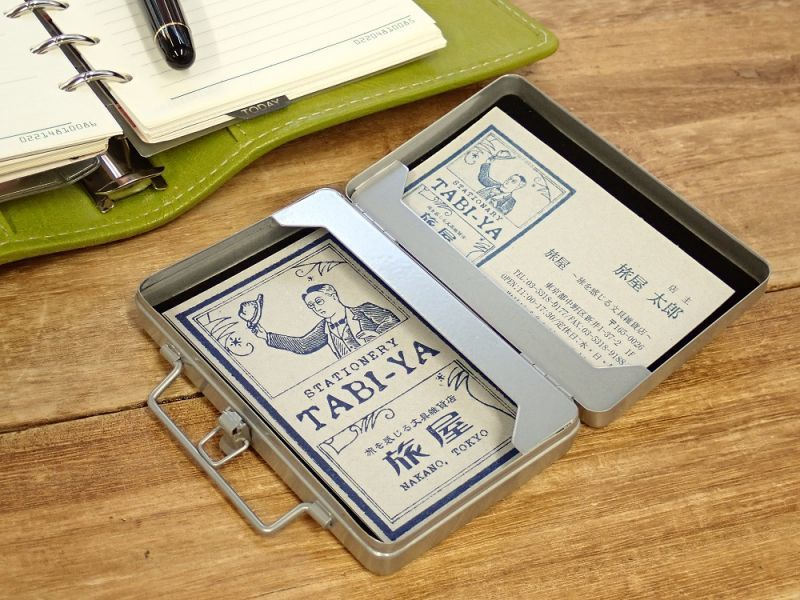 画像2: 【ネコポス△】 ブリーフケース型カードケース シルバー