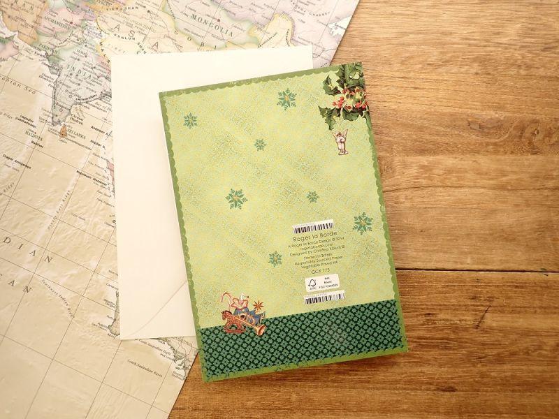 画像2: 【ネコポスOK】 イギリス ROGER LA BORDE 2つ折りカード 天使×ツリー