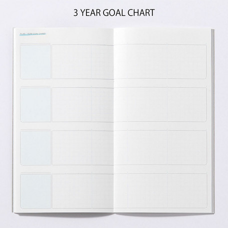 画像2: 【ネコポスOK】 PASSPORT NOTEBOOK PLAN/ノート プラン YEAR GOAL CHART