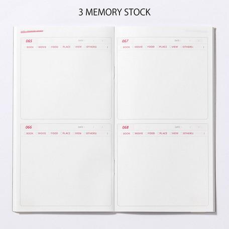 画像2: 【ネコポスOK】 PASSPORT NOTEBOOK LOG/ノート ログ MEMORY STOCK 100